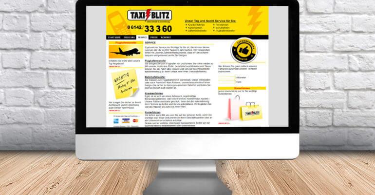 webdesign – taxiblitz