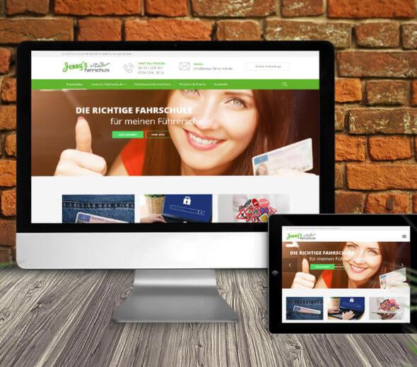 webdesign – jennysfahrschule